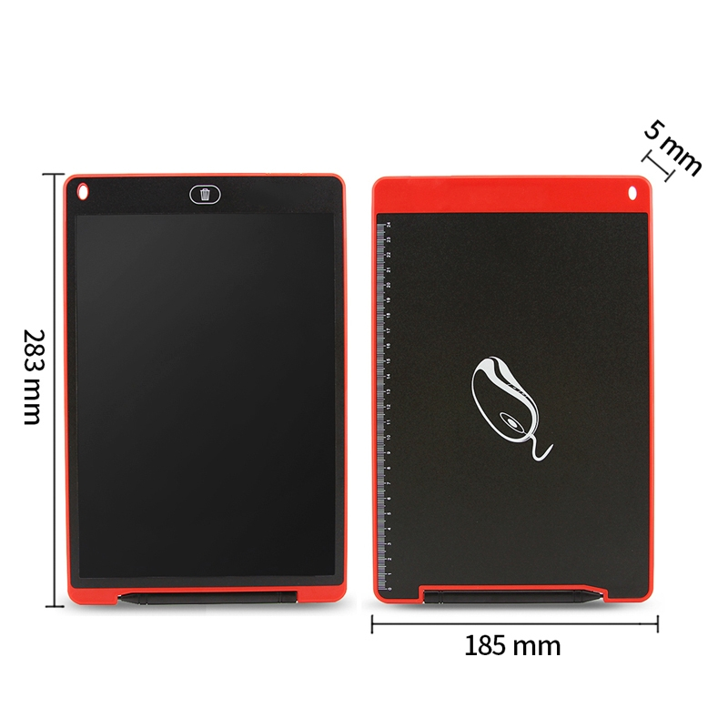 CHUYI Portable 12 inch LCD Writing Tablet Drawing Graffiti Electronic Handwriting Pad Message Graphics Board Draft Paper with Writing Pen, CE / FCC / RoHS Certificated (Red)