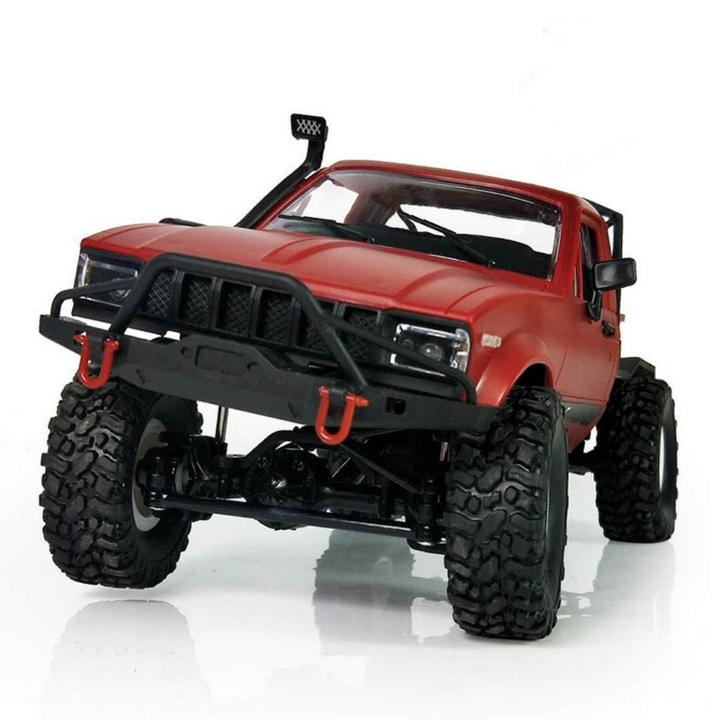 wpl c 14 1 16 mini 2 4g 4wd rc crawler off road car with light red. Black Bedroom Furniture Sets. Home Design Ideas