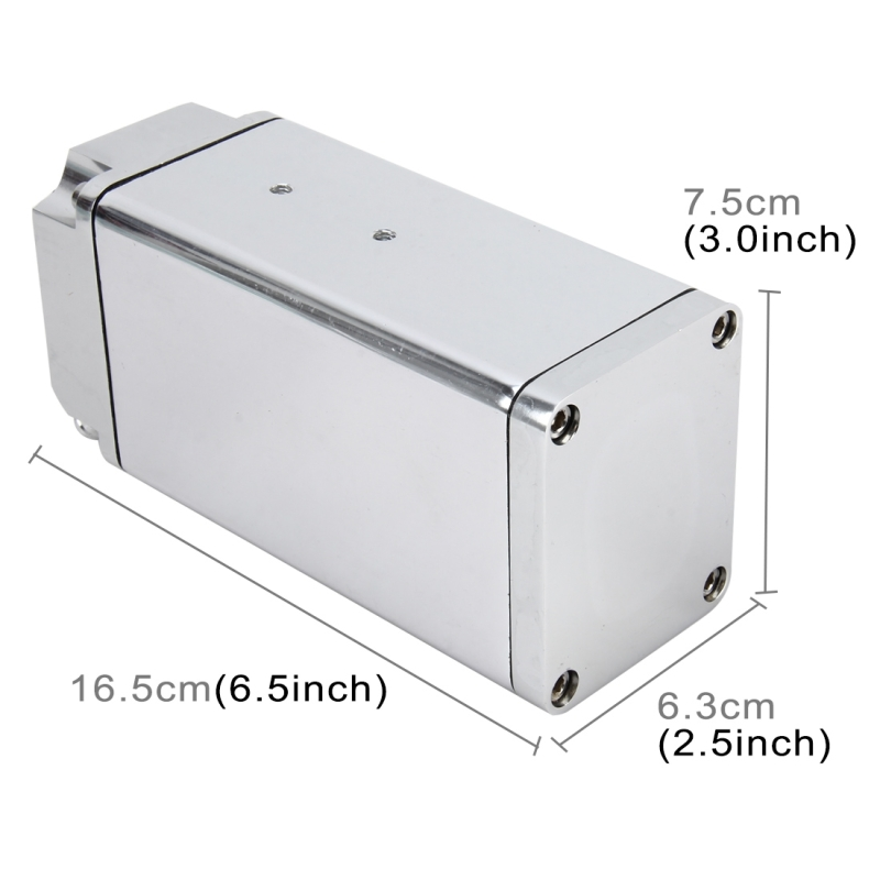 Universal Racing D1S-003 Engine Square Oil Catch Tank Can Embase Racing Catch Oil Tank Oil Catch Tank Motor Racing Sports (Silver)