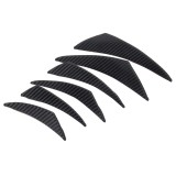 6 PCS/Set Universal Car Plastic Anti-collision Sticker Car Anti-Collision Bar Automatic Anti-collision Strip Bumper Protector Universal Car Sticker Door Side Protection Rim Guard