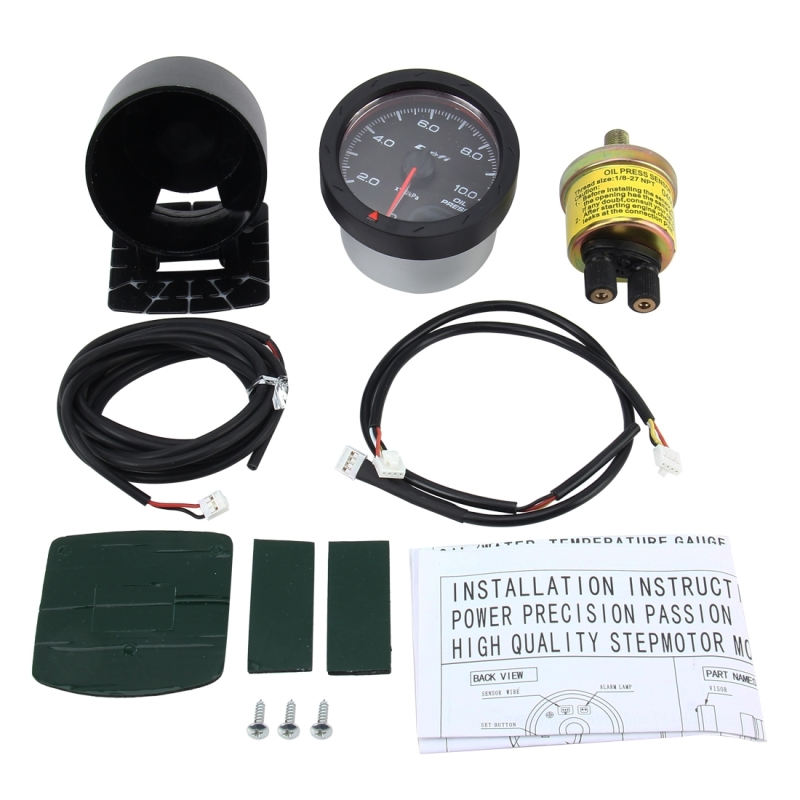 Universal Vacuum Gauge Car Vacuum Manometer Mini Dial Air Vacuum Pressure Gauge Auto Gauge Racing Car Meter Auto Gauge