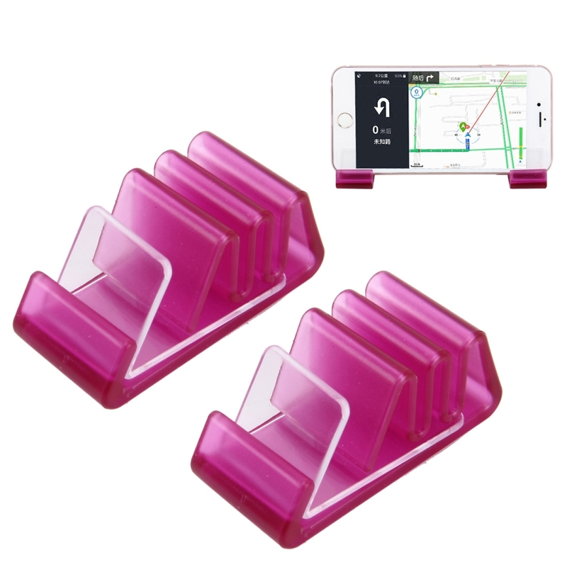 2 PCS Universal Phone Holder Stand Mount Dashboard Car Mount Holder, For iPhone, Samsung, LG, Nokia, HTC, Huawei, and other Smartphones (Magenta)