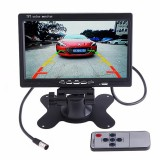 PZ-607 Wireless Vehicle Truck Backup Camera and Monitor Infrared Night Vision Rear View Camera with 7 inch HD Monitor