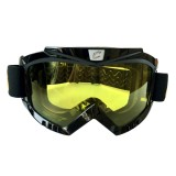 Motorcycle Helmet Riding Mask Goggles Set Outdoor Wind and Sand Resistant Off-road Harley Goggles Removable Masks (Yellow)