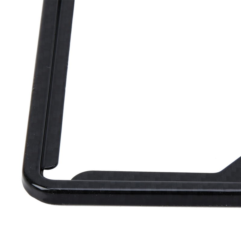 2 PCS Carbon Lead License Plate Frame Simple and Beautiful Car License Plate Frame Holder Universal License Plate Holder (Black)