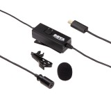 BOYA BY-GM10 Micro 5 Pin Omni-directional Audio Lavalier Condenser Microphone with Tie Clip for GoPro HERO4 /3+ /3 (Black)
