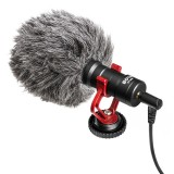 BOYA BY-MM1 Cardioid Condenser Microphone with Windshield for Smartphones, DSLR Cameras and Video Cameras (Black)
