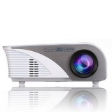 RD-805B 960*640 1200 Lumens Portable Mini LED Projector Home Theater with Remote Controller ,Support USB + VGA + HDMI + AV + TV (White)