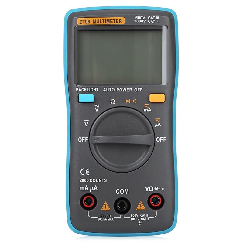 Cat Iii Multimeter : Zt cat iii v portable digital multimeter counts
