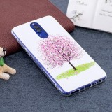 Huawei Mate 10 Lite Noctilucent Cherry Tree Pattern TPU Soft Back Case Protective Cover