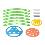 12 in 1 Creative Toy Large Scale Spirograph Drawing Ruler & Chalk Set