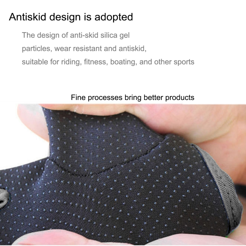 Unisex Half Finger Gloves Outdoors Riding Non-slip Breathable Sports Gloves (Black)