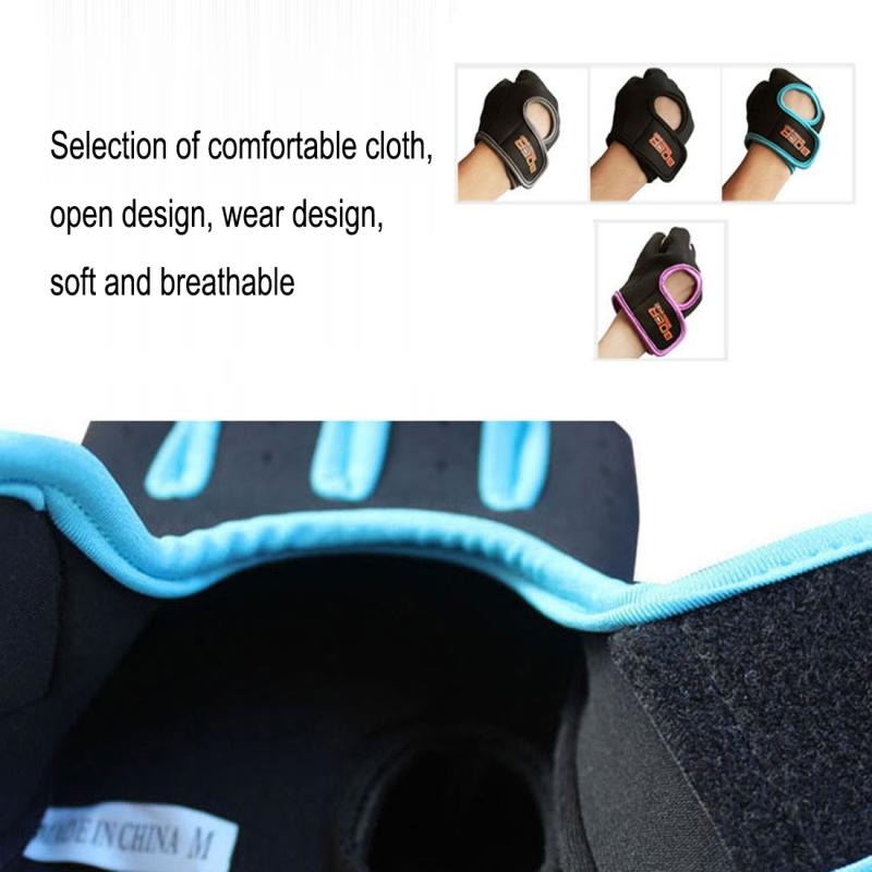 Unisex Half Finger Gloves Outdoors Riding Non-slip Breathable Sports Gloves (Blue)