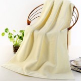 Add Thick Add Large Pure Cotton Bath Towel (Beige)