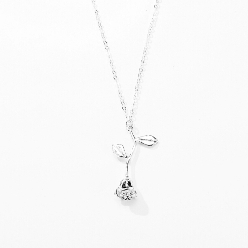 2 pcs valentines day gift rose flower pendant jewelry chain necklace 2 pcs valentines day gift rose flower pendant jewelry chain necklace chain length 45cm aloadofball Gallery