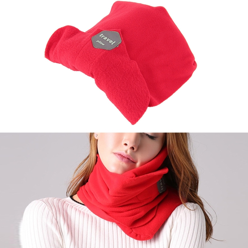 Portable Airplane Travel U-shaped Pillow Nap Time Neck Pillow (Red)