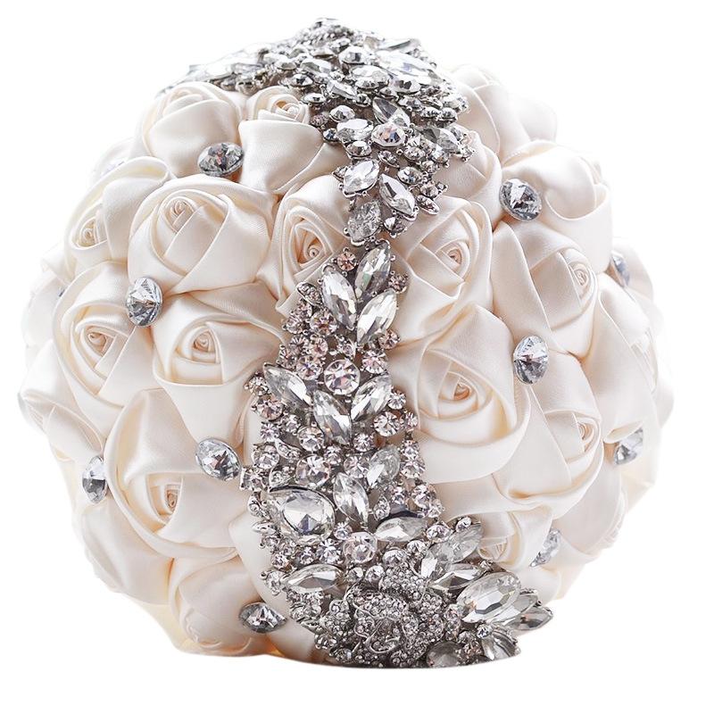 Wedding holding flowers bridal bouquet accessories bridesmaid wedding decoration supplies white hc6700w1g hc6700wg junglespirit Images