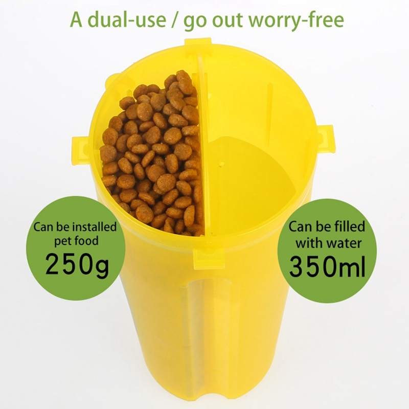 ... HC6710Y_3.jpg ...  sc 1 st  Alexnld.com & Pet Outdoor Portable Dual-use Water and Food Cup with A Folding Bowl ...