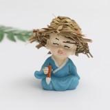 Creative Cute Cartoon Monk Resin Ornaments Child Birthday Gift, Random Style