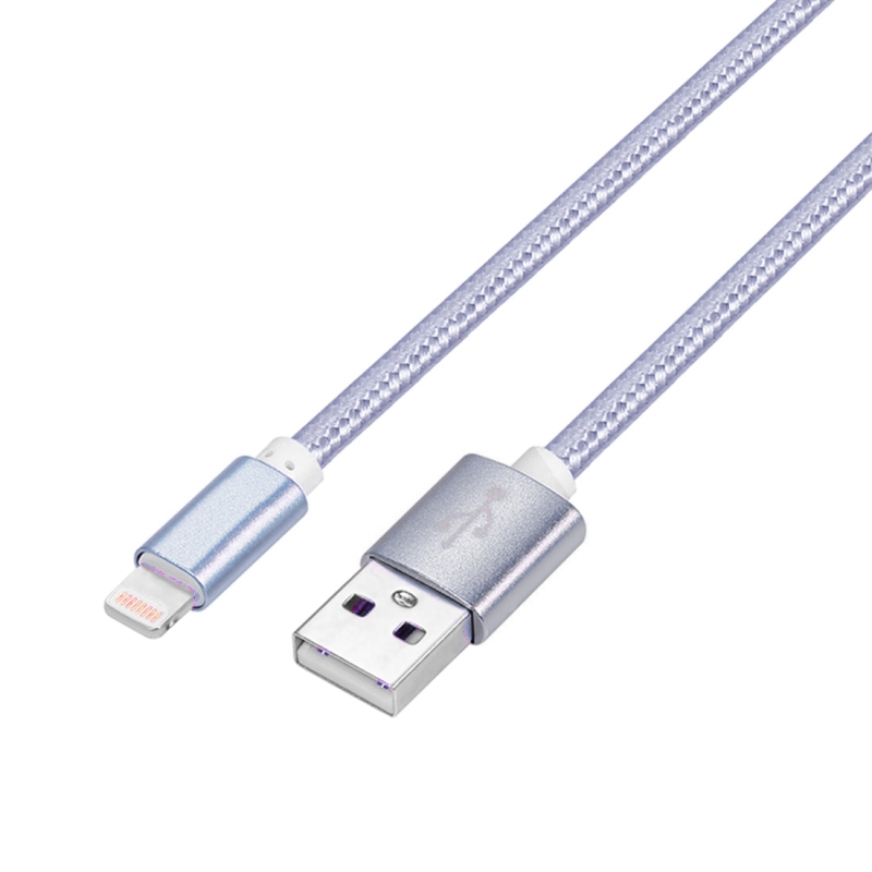 YF-MX04 3m 2.4A MFI Certificated 8 Pin to USB Nylon Weave Style Data Sync Charging Cable For iPhone X / iPhone 8 & 8 Plus / iPhone 7 & 7 Plus / iPhone 6 & 6s & 6 Plus & 6s Plus / iPhone 5 & 5S & SE & 5C / iPad (Grey)