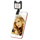 APEXEL APL-FL01 Universal Phone Camera Lens Selfie LED Fill Light with Clip, For iPhone, Samsung, Huawei, Xiaomi, HTC and Other Smartphones (Black)