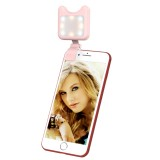 APEXEL APL-FL01 Universal Phone Camera Lens Selfie LED Fill Light with Clip, For iPhone, Samsung, Huawei, Xiaomi, HTC and Other Smartphones (Pink)