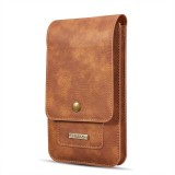 DG.MING Universal Cowskin Leather Protective Case Waist Bag with Card Slots & Hook, For iPhone, Samsung, Sony, Huawei, Meizu, Lenovo, ASUS, Oneplus, Xiaomi, Cubot, Ulefone, Letv, DOOGEE, Vkworld, and other Smartphones Below 5.2 inch (Brown)
