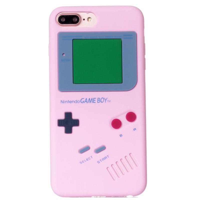 For Iphone 8 Plus Amp 7 Plus Retro 3d Game Machine Design Soft Silicone Protective Case Pink