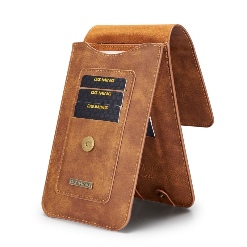 DG.MING Universal Cowskin Leather Protective Case Bag Waist Bag with Card Slots & Hook, For iPhone, Samsung, Sony, Huawei, Meizu, Lenovo, ASUS, Oneplus, Xiaomi, Cubot, Ulefone, Letv, DOOGEE, Vkworld, and other Smartphones Below 6.5 inchOGEE, Vkworld, and other Smartphones Below 6.5 inch (Brown)