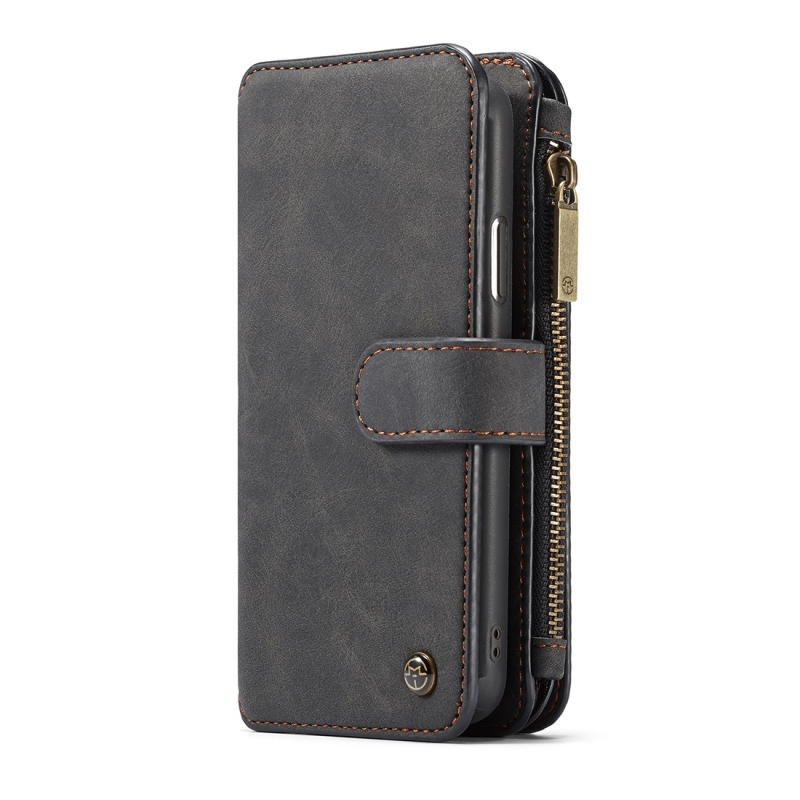 6469a446ae13 CaseMe-007 for iPhone X TPU + PC Magnetic Absorption Detachable Back Cover  Horizontal Flip Leather Case with Card Slots & Zipper Wallet & Photo Frame  ...
