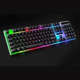 ZGB G21 104 Keys USB Wired Mechanical Colorful Backlight Office Computer Keyboard Gaming Keyboard (Black)