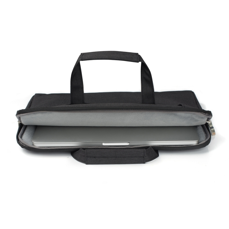 Portable One Shoulder Handheld Zipper Laptop Bag, For 11.6 inch and Below Macbook, Samsung, Lenovo, Sony, DELL Alienware, CHUWI, ASUS, HP (Black)