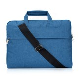 Portable One Shoulder Handheld Zipper Laptop Bag, For 13.3 inch and Below Macbook, Samsung, Lenovo, Sony, DELL Alienware, CHUWI, ASUS, HP (Blue)