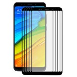 5 PCS ENKAY Hat-Prince Xiaomi Redmi 5 Plus 0.26mm 9H Surface Hardness 2.5D Curved Full Screen Bent Tempered Glass Color Screen Protector (Black)