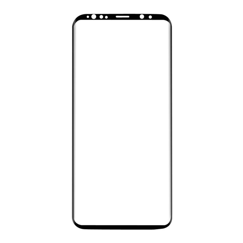 ENKAY Hat-Prince for Samsung Galaxy S9 0.26mm 9H Surface Hardness 3D Curved Full Screen Bent Tempered Glass Color Screen