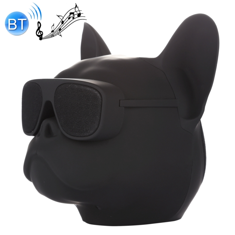 AEROBULL Bulldog Fashion Portable Bluetooth Wireless Stereo Speaker, Support Aux Input & TF Card, For Mobile Phones / Tablets / Laptops, Support TF Card & AUX Input, Bluetooth Distance: 10m (Black)