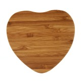 5V 1A Output Qi Standard Heart Shape Bamboo Wireless Charger, Support QI Standard Phones, For iPhone X & 8 & 8 Plus, Galaxy S8 & S8+, LG G3 & G2 & G10, Nokia Lumia 820, Google Nexus 6 & 5 & 4 and Other QI Standard Smartphones