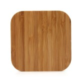 5V 1A Output Qi Standard Square Shape Bamboo Wireless Charger, Support QI Standard Phones, For iPhone X & 8 & 8 Plus, Galaxy S8 & S8+, LG G3 & G2 & G10, Nokia Lumia 820, Google Nexus 6 & 5 & 4 and Other QI Standard Smartphones