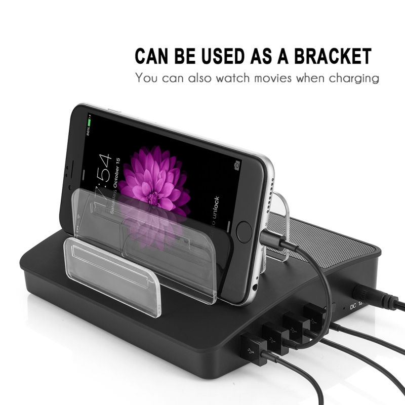 Multi Function 4 Ports Usb Detachable Charging Station Wireless Bluetooth Speaker For Ipad Tablets Iphone Galaxy Huawei Xiaomi Lg Htc And Other Smart Phones Rechargeable Devices Black Alexnld Com