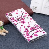 For Sony Xperia L1 Noctilucent Plum Pattern TPU Soft Back Case Protective Cover