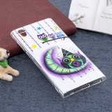 For Sony Xperia L1 Noctilucent Moon and Owl Pattern TPU Soft Back Case Protective Cover