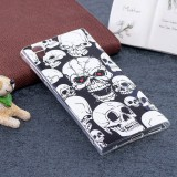 For Sony Xperia L1 Noctilucent Red Eye Skull Pattern TPU Soft Back Case Protective Cover