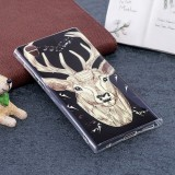 For Sony Xperia L1 Noctilucent Deer Pattern TPU Soft Back Case Protective Cover