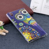 For Sony Xperia L1 Noctilucent Ethnic Owl Pattern TPU Soft Back Case Protective Cover