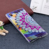 For Sony Xperia L1 Noctilucent Flower Pattern TPU Soft Back Case Protective Cover