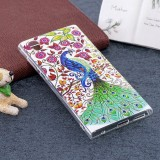 For Sony Xperia L1 Noctilucent Peacock Pattern TPU Soft Back Case Protective Cover