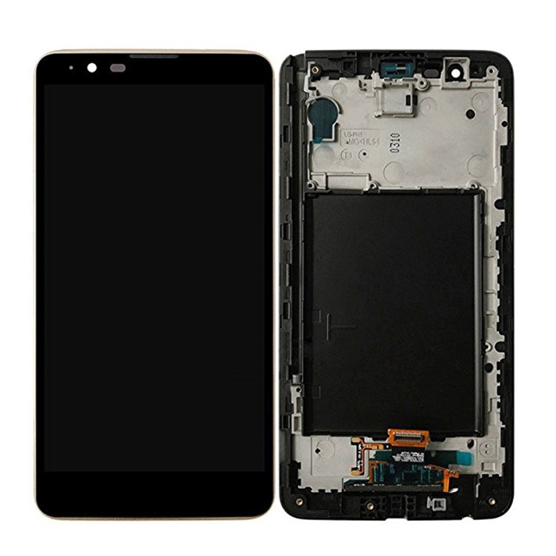 Replacement for LG Stylus 2 / K520 LCD Screen + Touch Screen Digitizer Assembly with Frame (Black)