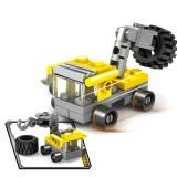 KAZI 16 in 1 Sets DIY Construction Engineering Vehicles Excavator Model Building Blocks Compatible City Construction Bricks Toys (Minimum Age: 6+)