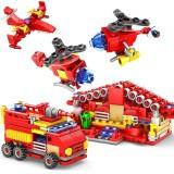 KAZI 16 in 1 Sets Fire Station Building Blocks Compatible City Firefighter Educational Construction Bricks Toys (Minimum Age: 6+)
