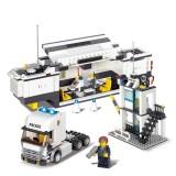6727 511 PCS Brick Blocks City Police Station Command Vehicle Building Bricks Plastic Blocks Toys (Minimum Age: 6+)